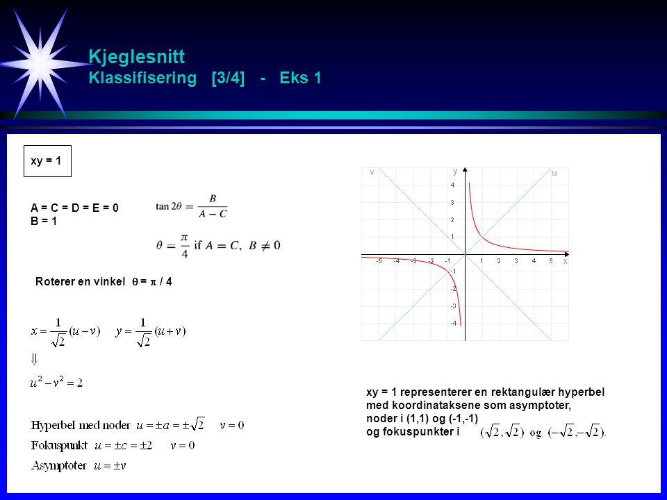 Kjeglesnitt Klassifisering [3/4] - Eks 1